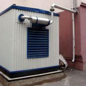 Размещение дизель-генератора внутри контейнера
