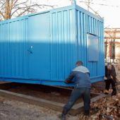 Разгрузка контейнера  дизель-генератора