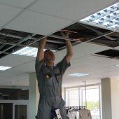 Монтаж системы вентиляции за навесным потолком