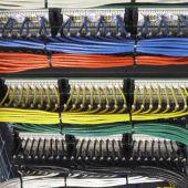 Монтаж фрагмента пассивных элементов локальной вычислительной сети